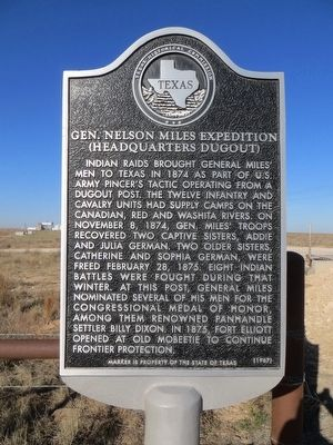 Gen. Nelson Miles Expedition Marker image. Click for full size.