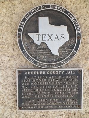 Wheeler County Jail Marker image. Click for full size.