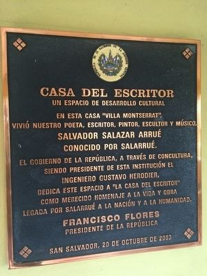 Home of Salarrué Marker image. Click for full size.