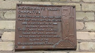 Menomonee Valley Campsites Marker image. Click for full size.