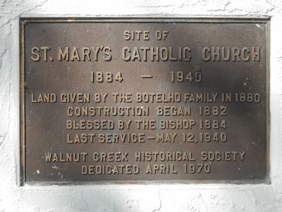 St. Mary's Catholic Church Marker image. Click for full size.