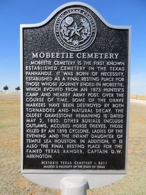 Mobeetie Cemetery Marker image. Click for full size.