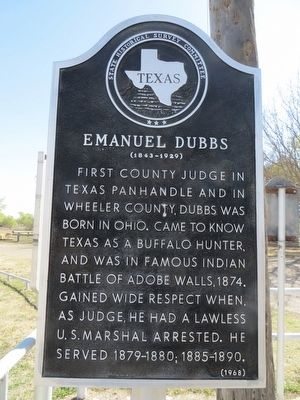 Emanuel Dubbs Marker image. Click for full size.