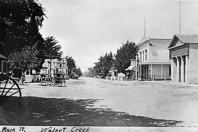 Main Street, 1910 Marker (detail) image. Click for full size.