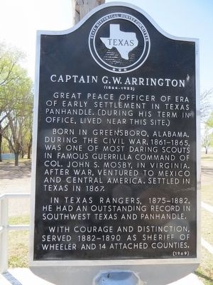 Captain G. W. Arrington Marker image. Click for full size.