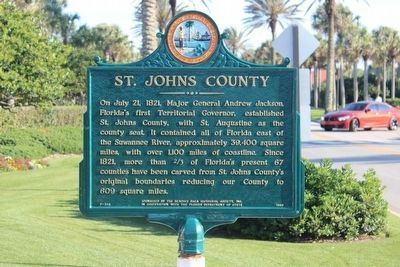 Newly restored St. Johns County side of marker image. Click for full size.