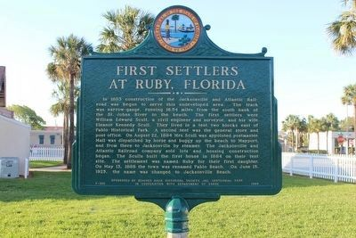 Newly restored First Settlers At Ruby, Florida Marker image. Click for full size.