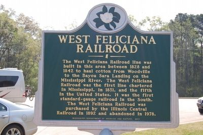 West Feliciana Railroad Marker image. Click for full size.