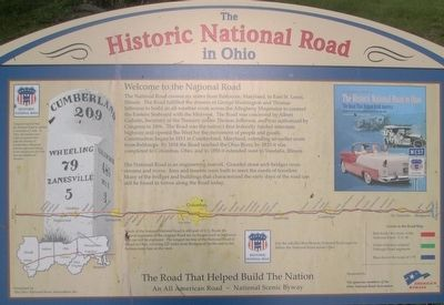 The Historic National Road Marker image. Click for full size.