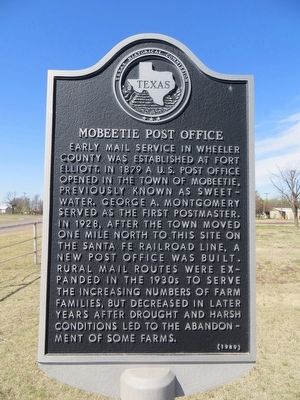 Mobeetie Post Office Marker image. Click for full size.
