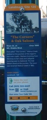 """The Corners"" & Oak Saloon Marker image. Click for full size."