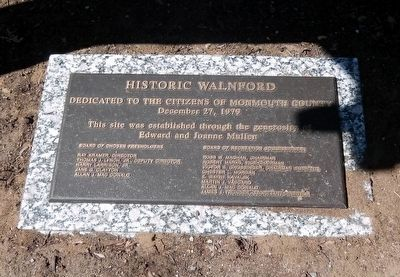 Historic Walnford Park-Dedication to the citizens of Monmouth County image. Click for full size.