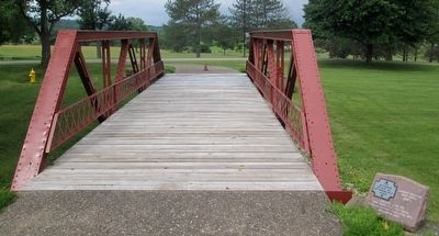 Zane's Trace Bridge Marker image. Click for full size.