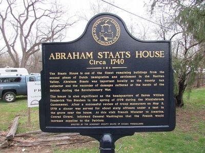 Abraham Staats House Marker image. Click for full size.