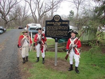 British Soldiers at the Abraham Staats House Marker image. Click for full size.