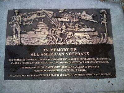 Veterans Memorial plaque image. Click for full size.