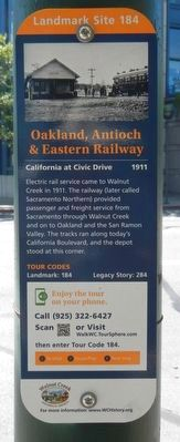 Oakland, Antioch & Eastern Railway Marker image. Click for full size.
