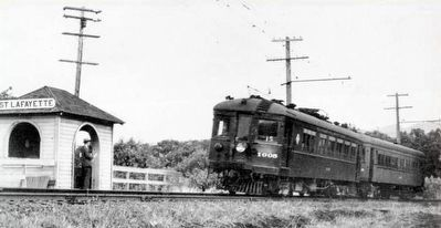 Oakland, Antioch & Eastern Railway at Lafayette image. Click for full size.