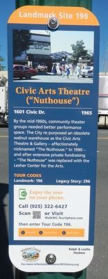 "Civic Art Theatre (""Nuthouse"") Marker image. Click for full size."