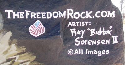 Adair County Freedom Rock Veterans Memorial Artist image. Click for full size.