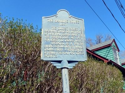 The Hawkins House Marker image. Click for full size.