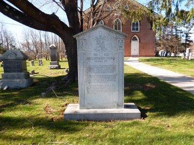 The Old Brick Reformed Church Marker image. Click for full size.