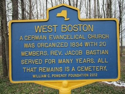 West Boston Marker image. Click for full size.