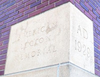 American Legion Memorial Building Cornerstone image, Touch for more information