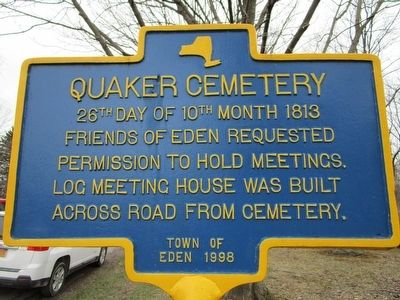 Quaker Cemetery Marker image. Click for full size.