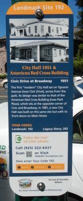 City Hall 1951 & American Red Cross Building Marker image. Click for full size.