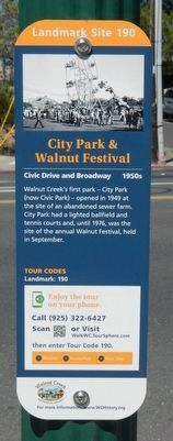 City Park & Walnut Festival Marker image. Click for full size.