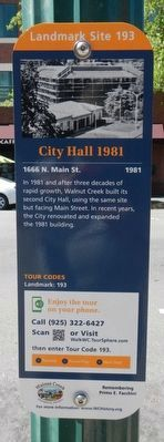 City Hall 1981 Marker image. Click for full size.