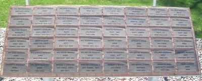Lewis Freedom Rock Veterans Memorial Pavers image. Click for full size.
