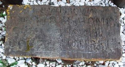Engraved Stone at Base of Memorial Building Marker image. Click for full size.