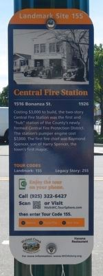 Central Fire Station Marker image. Click for full size.
