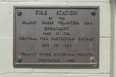Central Fire Station plaque image. Click for full size.