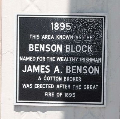 Benson Block Marker image. Click for full size.