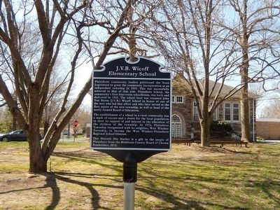 J.V.B. Wicoff Elementary School Marker image. Click for full size.