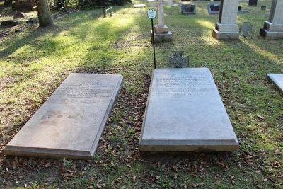 Jesse Johnson Finley grave on right, wife on left image. Click for full size.