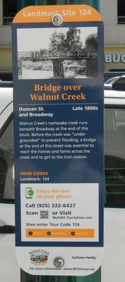 Bridge over Walnut Creek Marker image. Click for full size.
