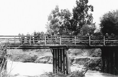 Bridge over Walnut Creek Marker (detail) image. Click for full size.