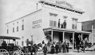 Rogers Hotel Marker (detail) image. Click for full size.