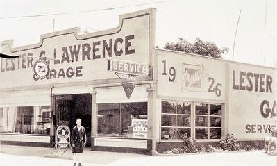 Lawrence Garage Marker (detail) image. Click for full size.