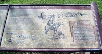 A Warm Welcome on the Nishnabotna Marker image. Click for full size.