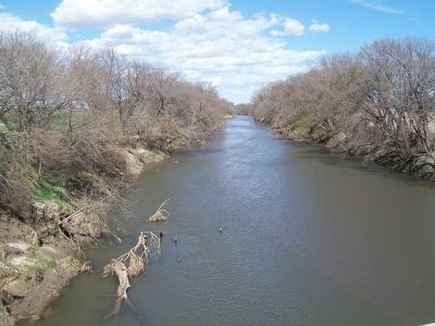 Nishnabotna River west of the Old Ferry House image. Click for full size.