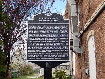 Sayre & Fisher Reading Room Marker image. Click for full size.