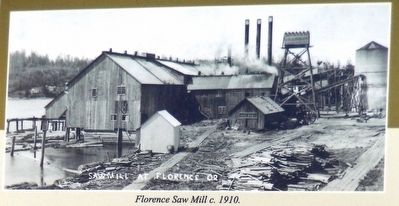 Marker Photo Detail: Florence Saw Mill c. 1910 image. Click for full size.
