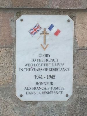 Glory to the French from Dominica Marker image. Click for full size.