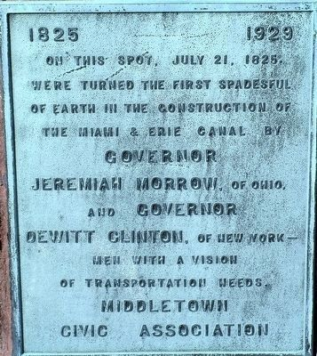 Start of the Miami and Erie Canal Marker image. Click for full size.