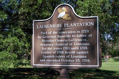 Lafreniere Plantation Marker image. Click for full size.